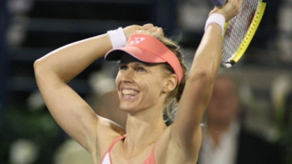 Russia remains set to claim all three medals following Dinara's win over Li Na