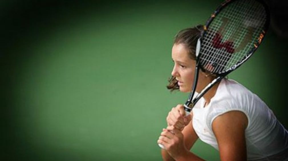 The 14-year-old's success continues on the senior circuit as she claims her first ITF crown in Sunderland.