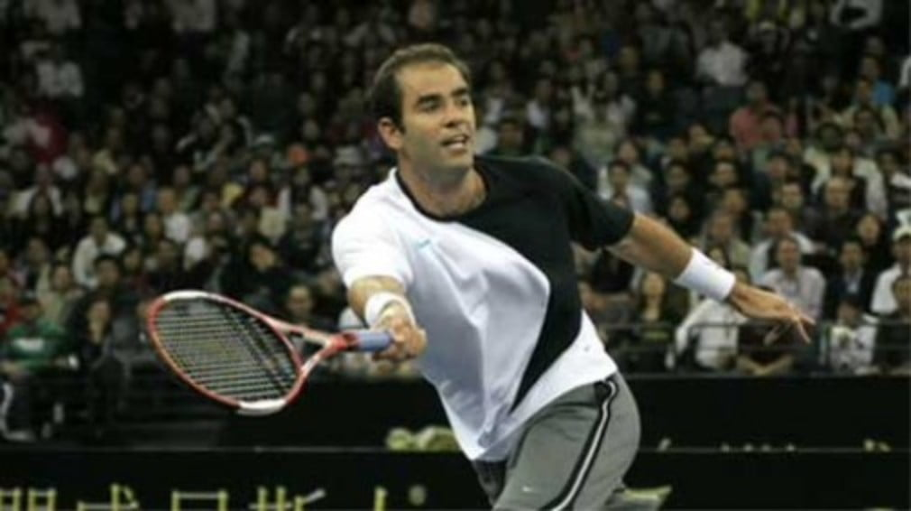 Gunslinger Pistol Pete Sampras strolled back into London town on Tuesday for the first time since his last appearance at Wimbledon back in 2002.