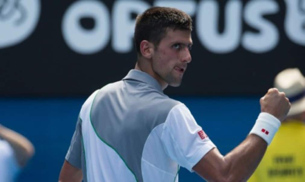 Novak Djokovic overcame the sweltering conditions on Rod Laver Arena as he dispatched Leonardo Mayer in straight sets