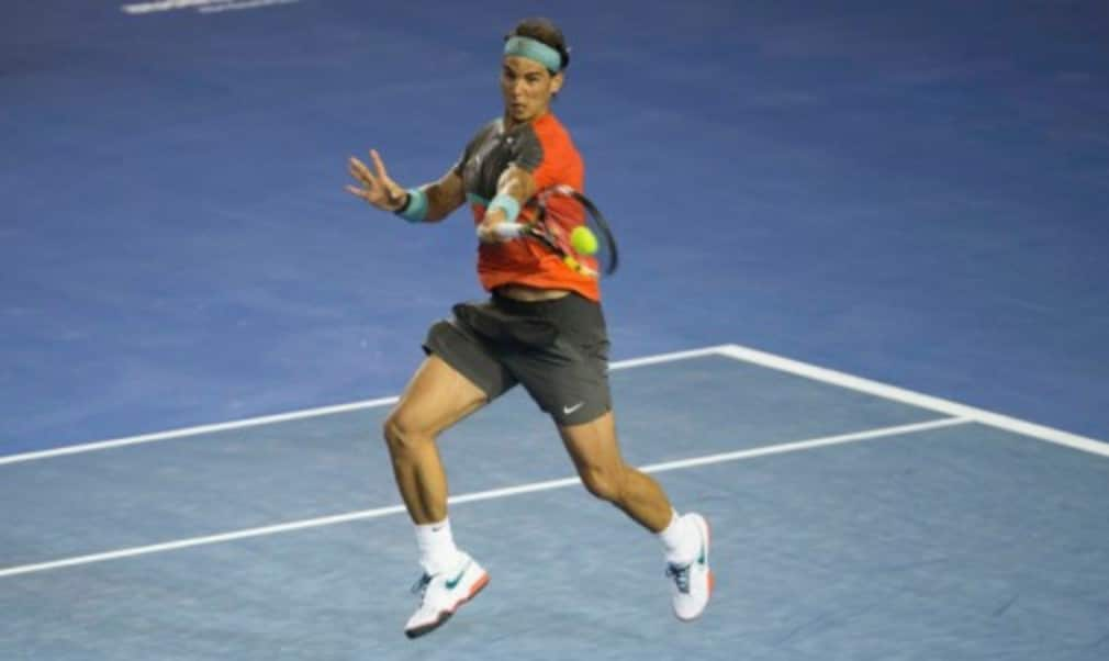 World No.1 Rafael Nadal moved into the third round of the Australian Open with a straight sets victory over Australian teenager Thanasi Kokkinakis