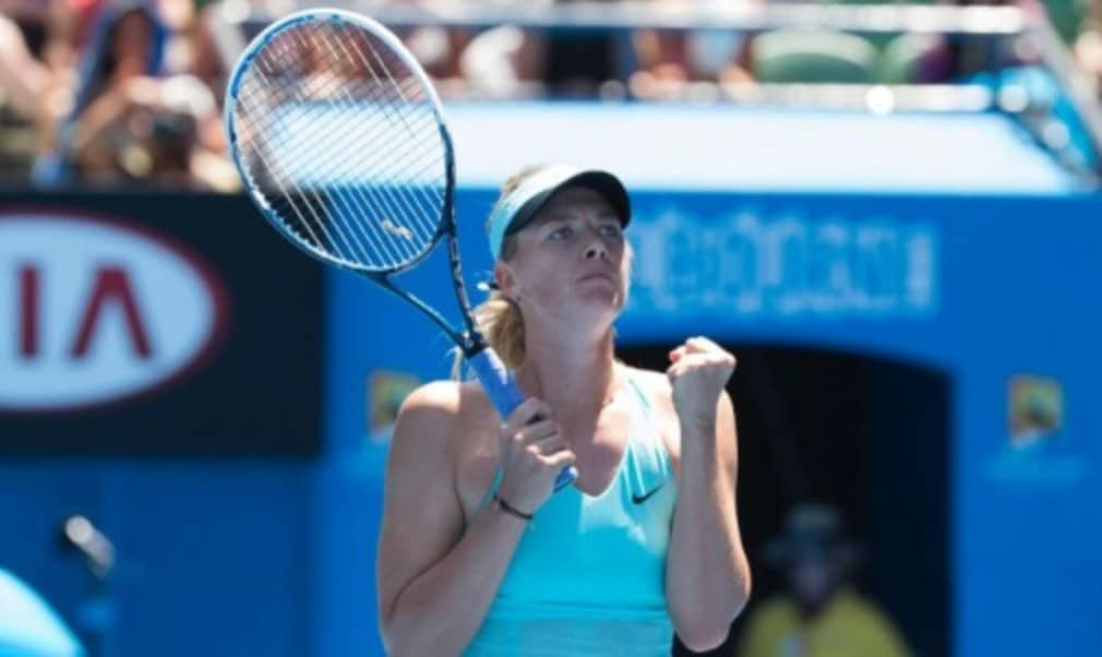 Maria Sharapova sealed her place in the fourth round of the Australian Open but Caroline Wozniacki was sent tumbling out