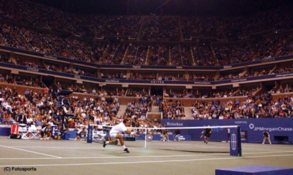 Andre Agassi and Pete Sampras meet in London tonight as part of World Tennis Day. We relive one of their most memorable encounters