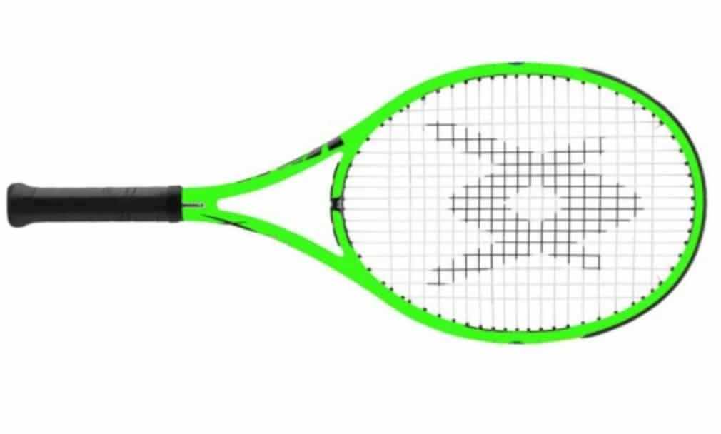 The Volkl Organix 7 is not just striking in colour but was also voted the best for power by tennishead 2014 intermediate racket review testers