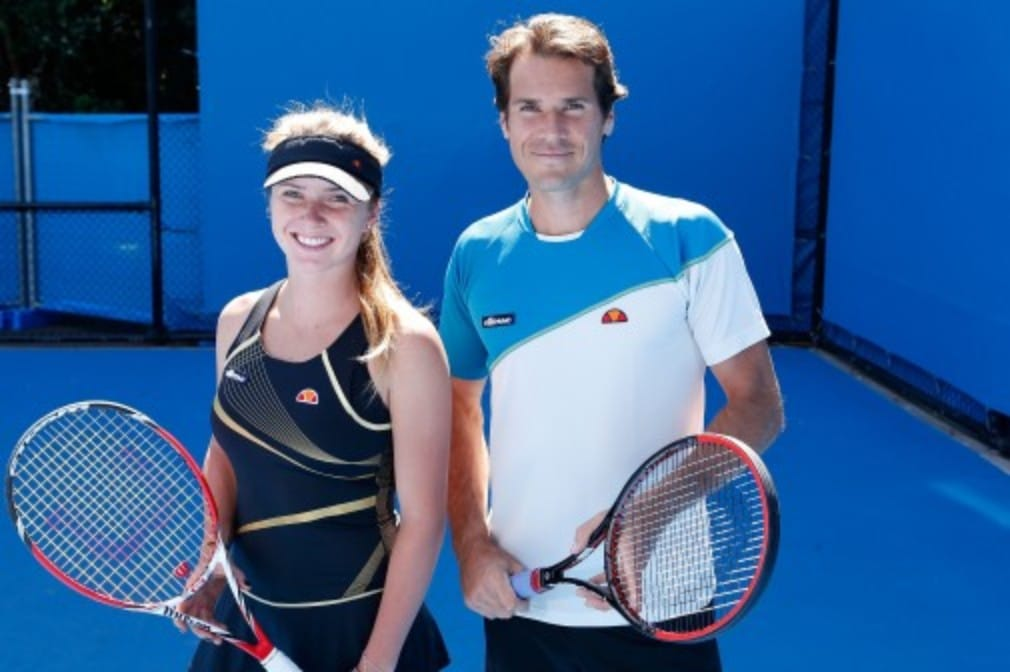 "Tommy Haas and Elina Svitolina have swapped ground strokes for paint strokes as part of ellesseŠ—Ès new Š—""Together We PlayŠ— campaign"