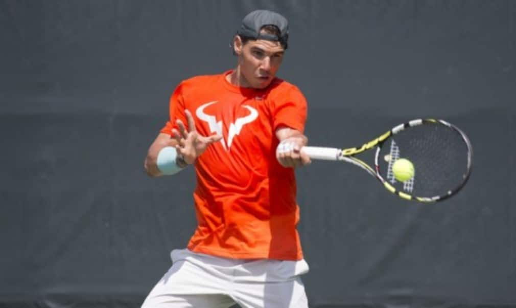 Defending champion Rafael Nadal will face American wild card Robby Ginepri in the first round of the 2014 French Open menŠ—Ès singles