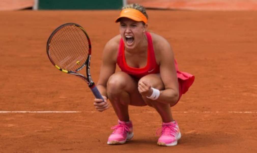 Maria Sharapova and Eugenie Bouchard showed their fighting qualities to come through tough French Open quarter-finals and set up a meeting in the last four