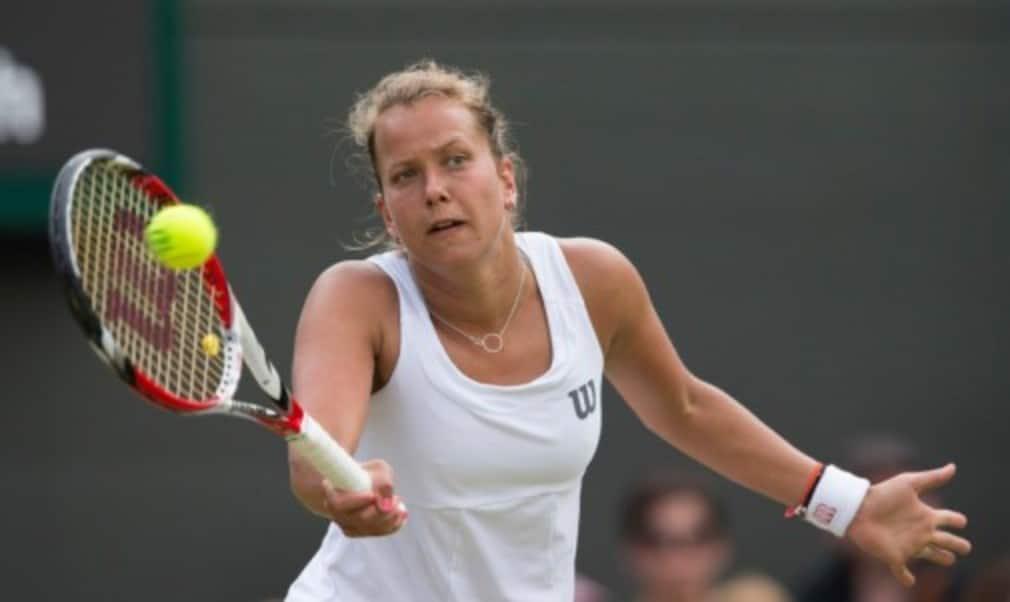 Barbora Zahlavova Strycova continued her giantkilling run at Wimbledon with victory over Caroline Wozniacki
