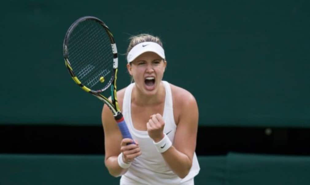 Eugenie Bouchard will make her top ten debut on Monday after reaching her third Grand Slam semi-final of the season with victory over Angelique Kerber at Wimbledon