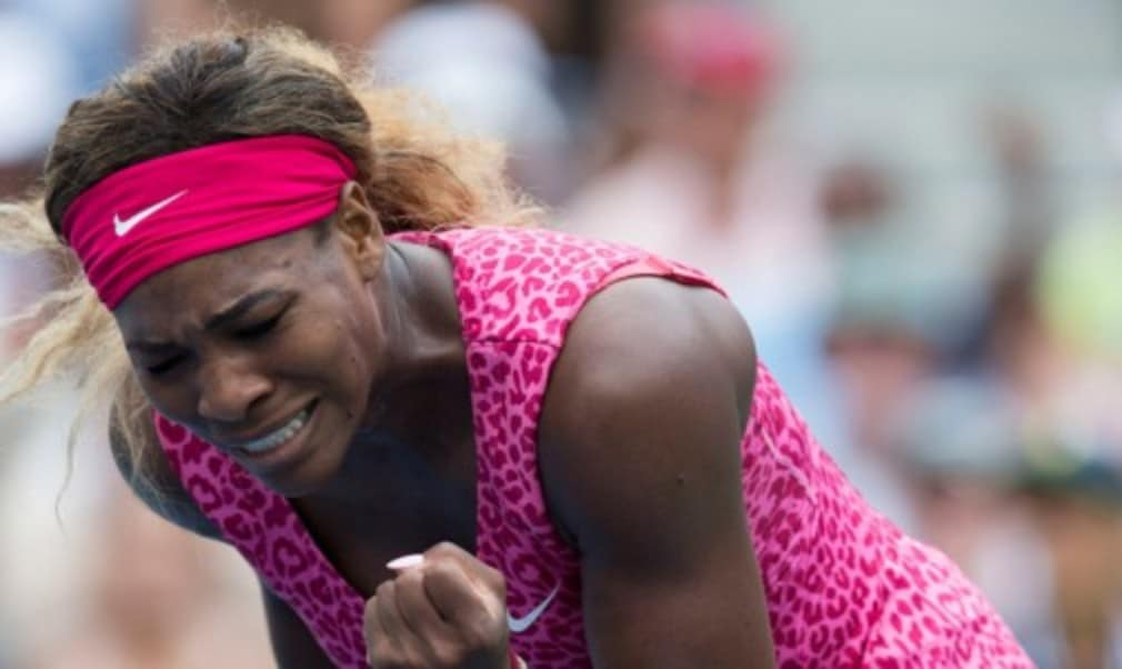 It was a backhand error from her opponent that sealed victory for Serena Williams