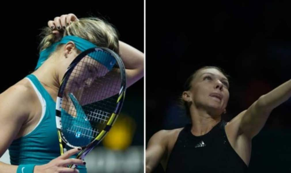WTA Finals debutants Simona Halep and Eugenie Bouchard suffered contrasting fates in Singapore