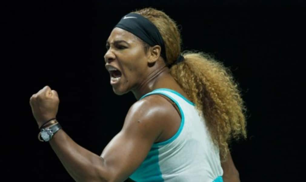 Serena Williams beat Simona Halep to win her fifth title at the WTA Finals in Singapore