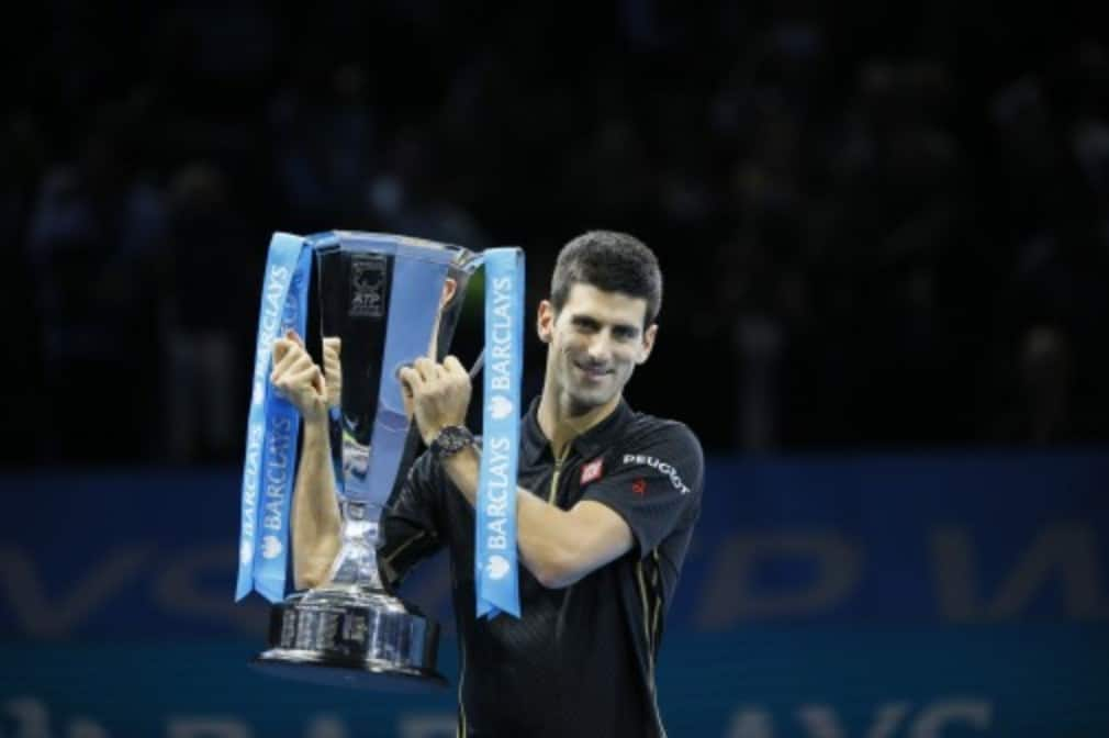 Novak Djokovic became the first man in 27 years to win three straight titles at the Barclays ATP World Tour Finals