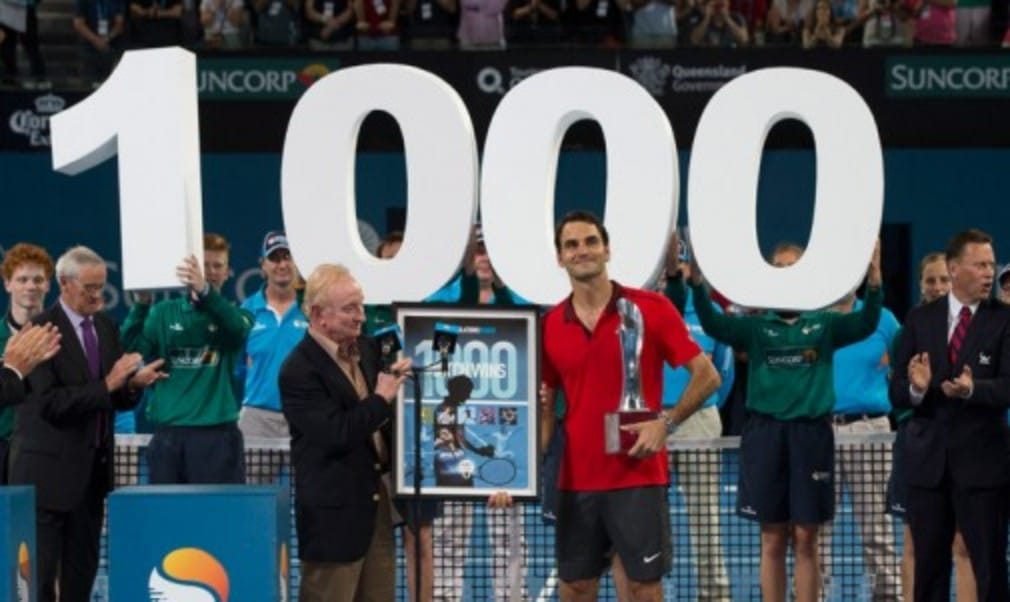 Roger Federer became only the third man to win 1000 professional matches as he won the Brisbane International for the first time. The Swiss defeated Milos Raonic 6-4 6-7(2) 6-4 in the final to claim the 83rd title of his career