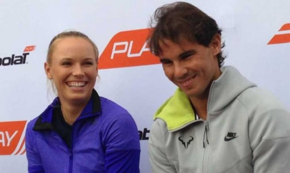 Rafa Nadal and Caroline Wozniacki will be playing with connected Babolat rackets this season which will enable them to analyse a range of data relating to their game