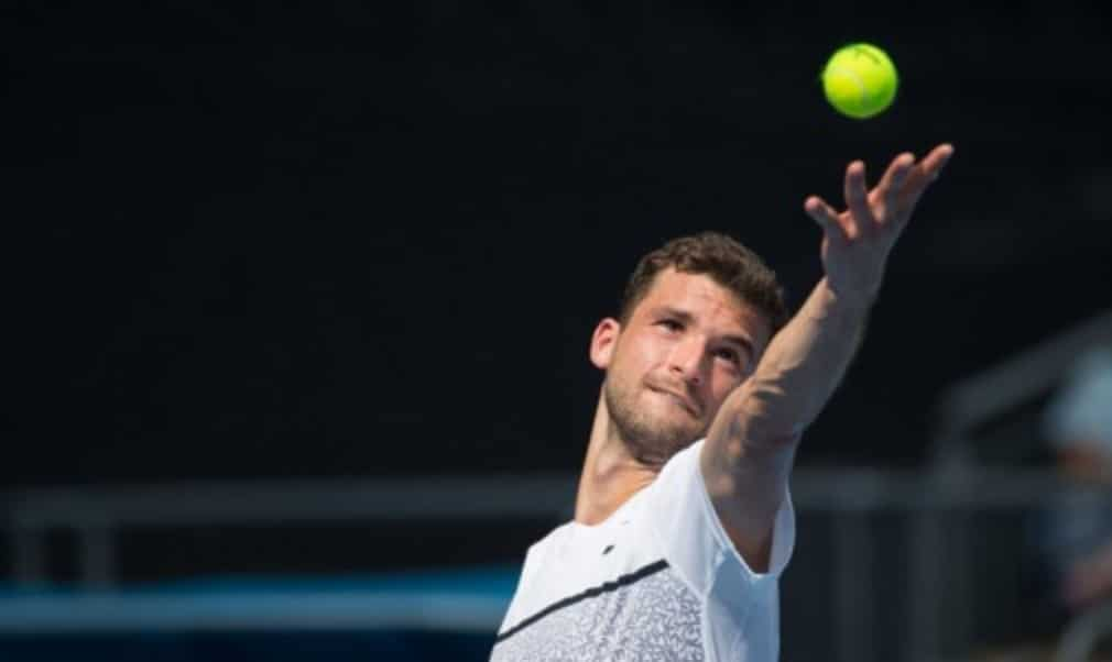 Grigor Dimitrov defeated Marcos Baghdatis 4-6 6-3 3-6 6-3 6-3 to book his place in the final 16 at the Australian Open