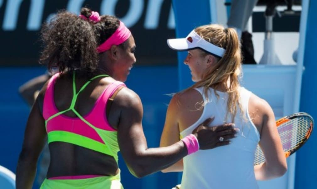 Serena Williams took three sets to overcome 20-year-old Elina Svitolina