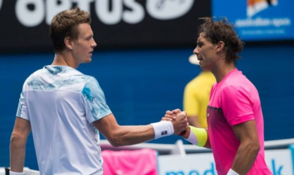 Tomas Berdych snapped a 17-match losing streak against Rafael Nadal to upset the No.3 seed and reach the semi-finals of the Australian Open