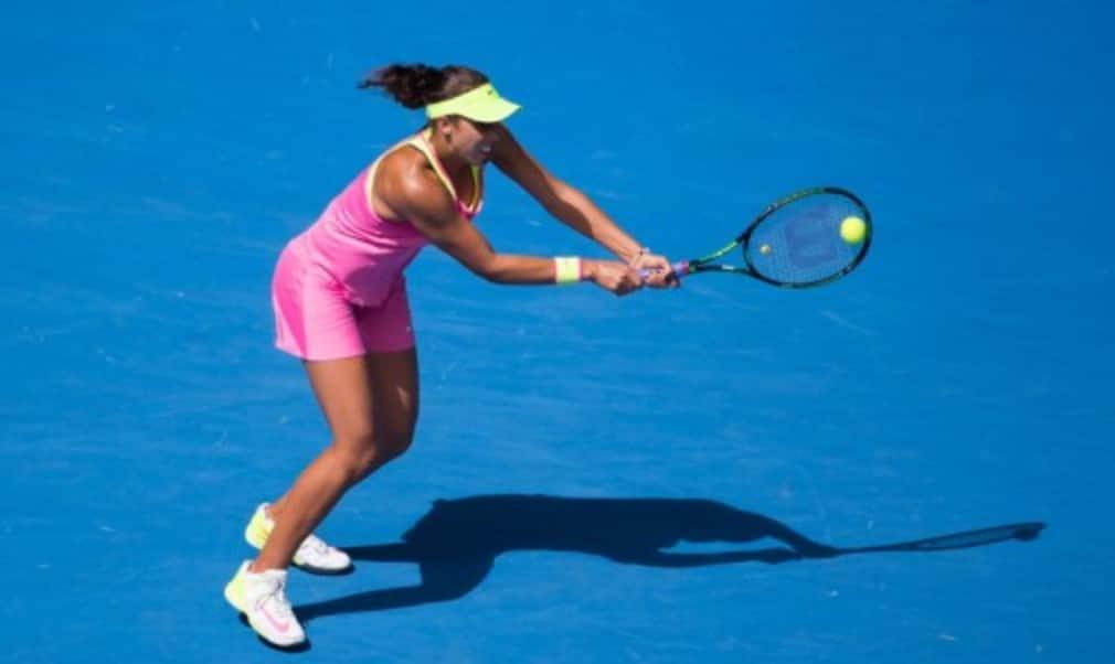 Madison Keys who was defeated in ThursdayŠ—Ès Australian Open semi-final 7-6(5) 6-2 by Serena Williams