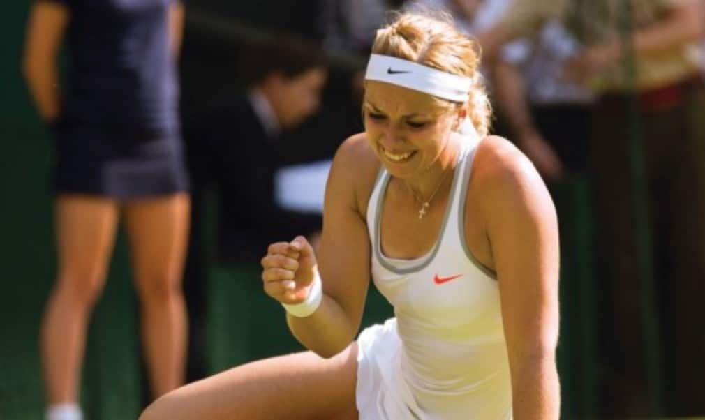Fan favourite Sabine Lisicki always seems to play with a smile on her face