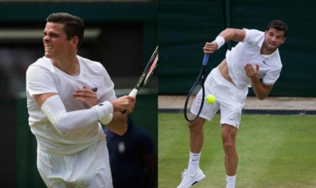 Two of last yearŠ—Ès semi-finalists failed to reach the fourth round at Wimbledon as Milos Raonic and Grigor Dimitrov bowed out on Friday