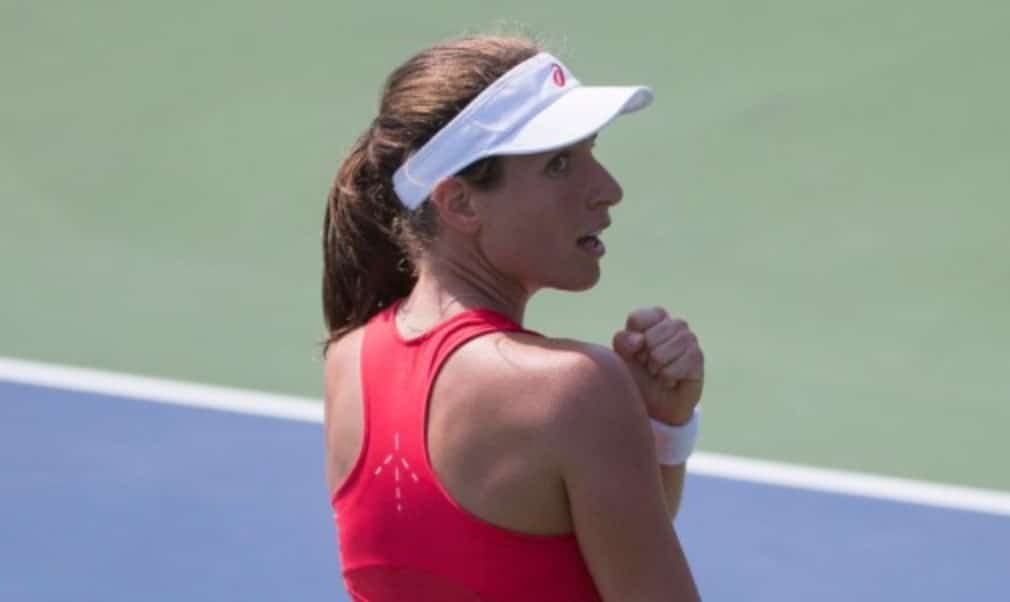 British No.2 Johanna Konta says she is 'no Serena Williams' after knocking out No.9 seed Garbine Muguruza to reach the third round of the US Open