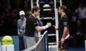 Stan Wawrinka defeated Andy Murray in straight sets to complete the semi-final line-up at the Barclays ATP World Tour Finals in London