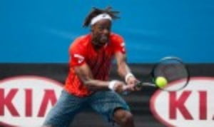 Gael Monfils reached the fourth round of the Australian Open with a straight sets win over fellow Frenchman Stephane Robert