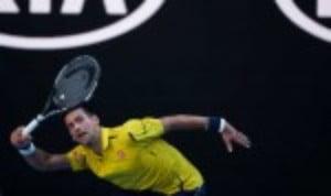 Novak Djokovic made an unwelcome century at the Australian Open on Sunday
