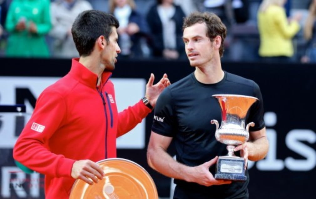 Andy Murray defeated Novak Djokovic on a clay court for the first time in his career as he beat the defending champion to win the Internazionali BNL dŠ—ÈItalia in Rome