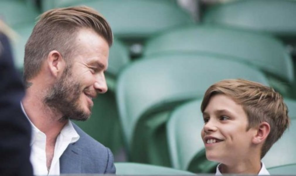 On Sunday at QueenŠ—Ès Club we were a bit surprised to see none other than David Beckham and son Romeo in the press room