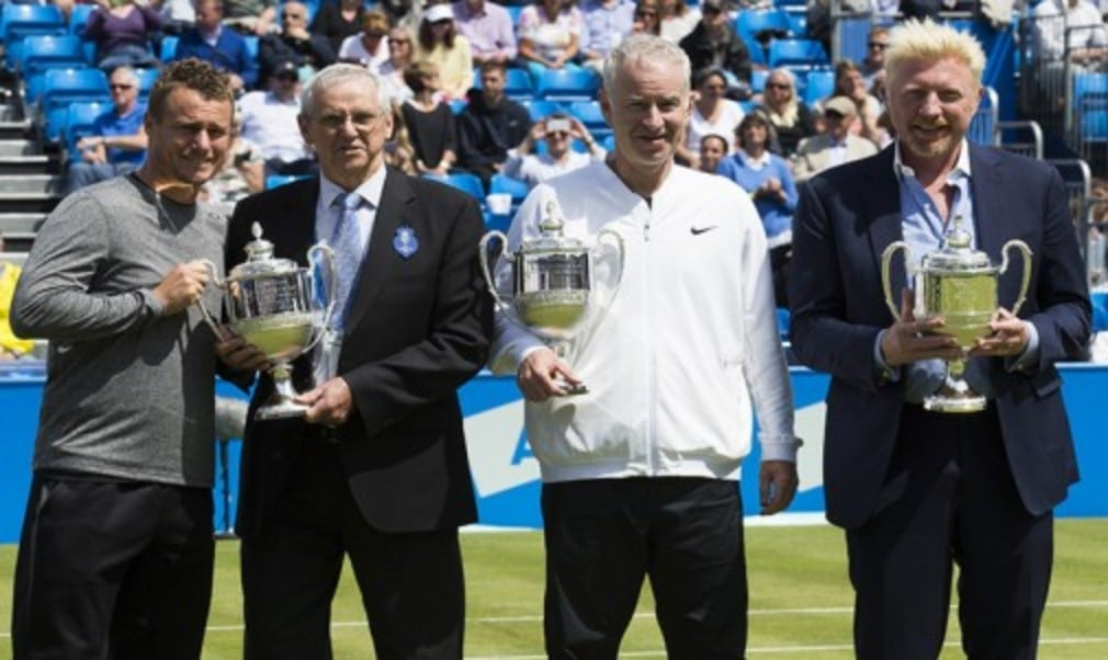 Four of the players who have won the title four times were honoured at The Queen's Club on Friday