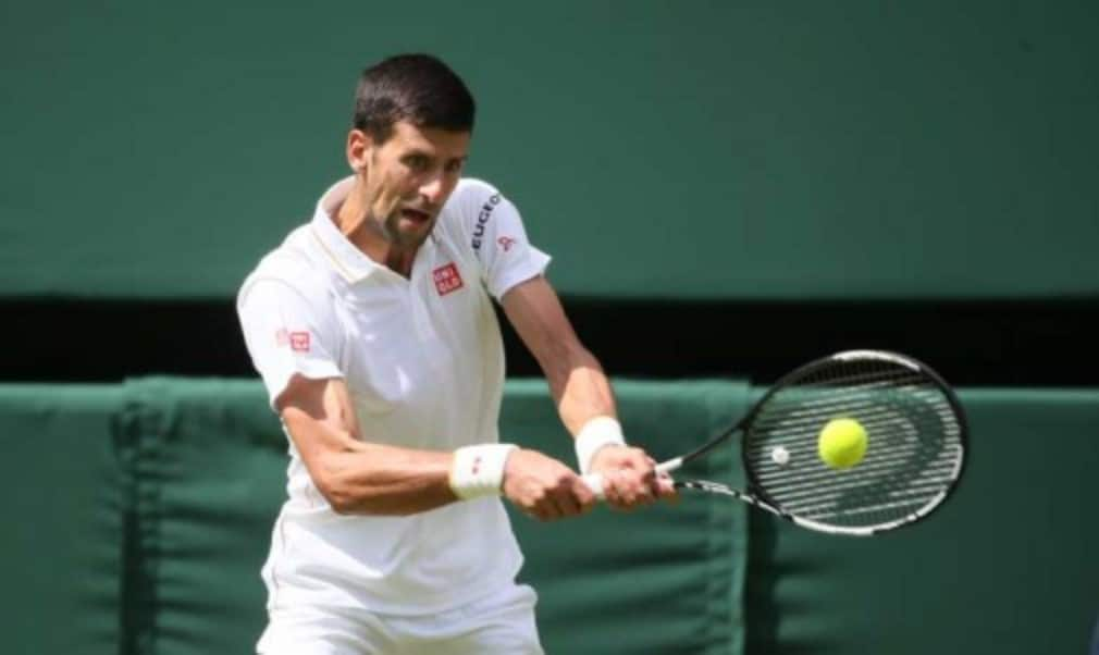 Novak DjokovicŠ—Ès first set bagel against British wild card James Ward was the first time in the Open era that the defending Wimbledon menŠ—Ès champion won his first set 6-0 on his return to SW19