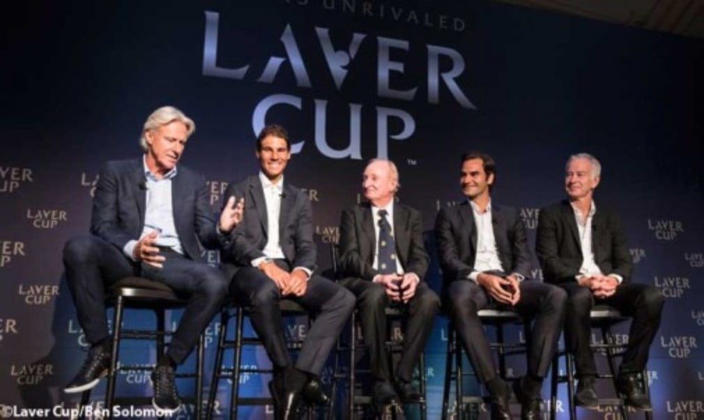 Longtime rivals Roger Federer and Rafael Nadal will be on the same team for the inaugural Laver Cup