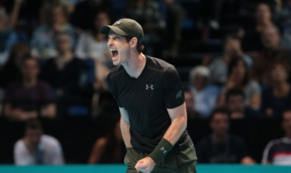 Andy Murray outlasted Kei Nishikori in a marathon three-set tussle to put one foot in the semi-finals at the Barclays ATP World Tour Finals in London