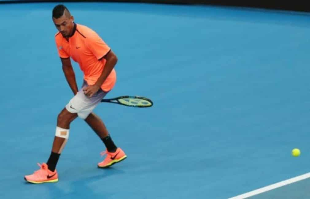 Nick Kyrgios got Australia's defence of the Hopman Cup underway in emphatic style even though the Australians were defeated by the Spanish on the opening day of Hopman Cup
