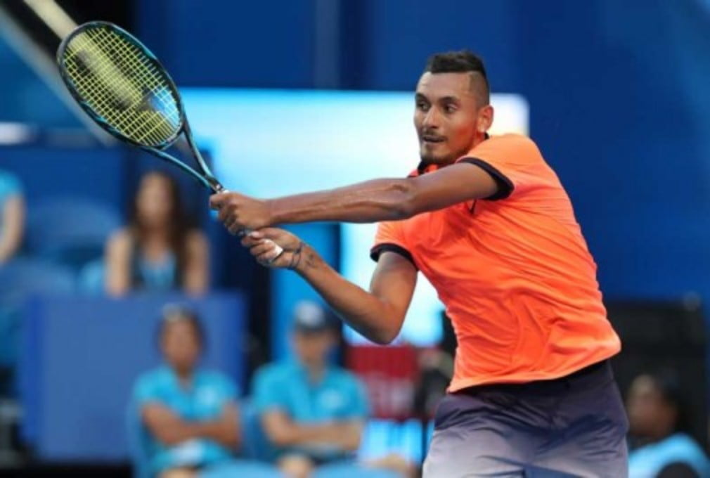 Nick Kyrgios pulled out of his mixed doubles Hopman Cup tie citing a knee injury