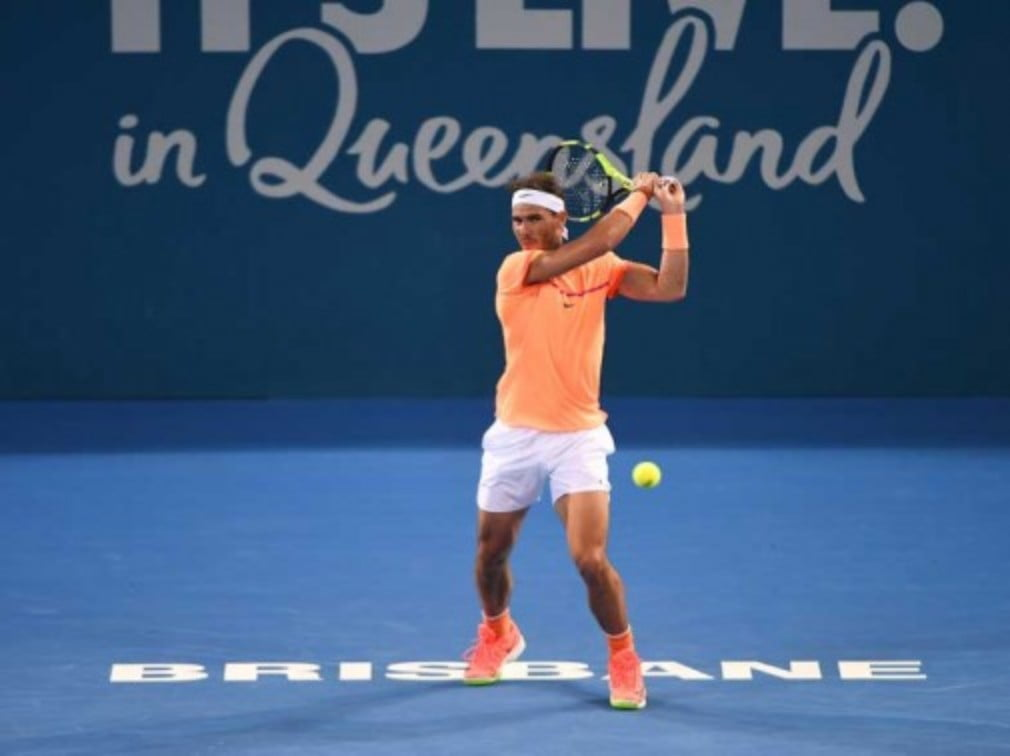 Former Australian Open champion Rafael Nadal joked that he would be at home in Mallorca fishing if he wasn't 'ready for the competition' in Melbourne