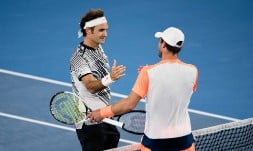 Roger Federer avoided an upset at the hands of Mischa Zverev to set an all-Swiss semi-final with Stan Wawrinka at the Australian Open