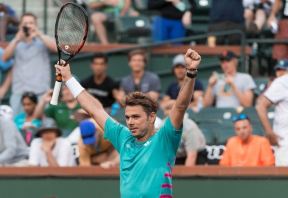 Stan Wawrinka is happy with his performance so far at the BNP Paribas Open after reaching the fourth round with victory over Philipp Kohlschreiber