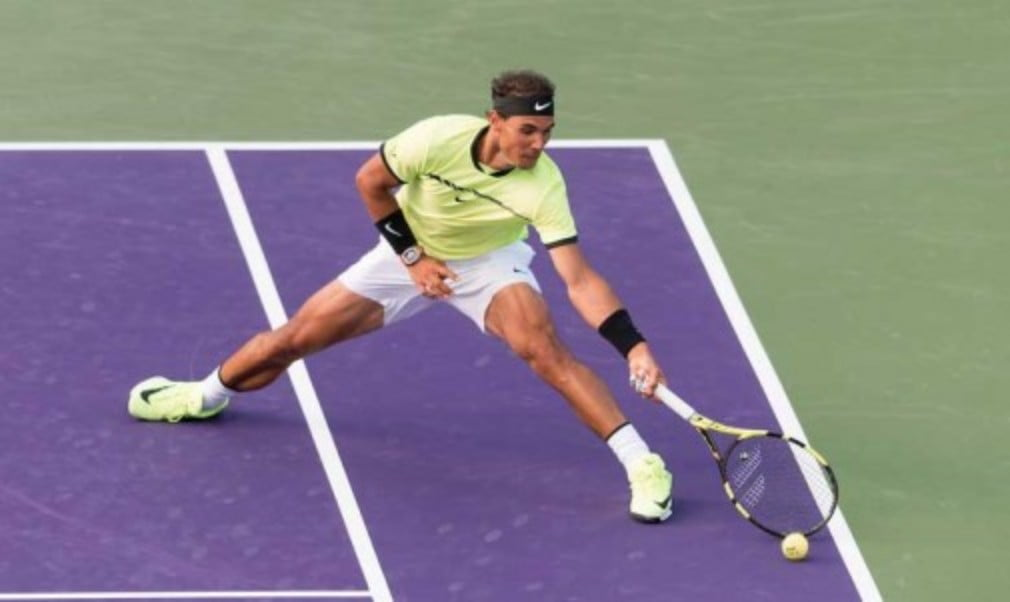 Rafael Nadal played his 1000th match on the ATP World Tour as he beat Philipp Kohlschreiber at the Miami Open