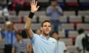Juan Martin del Potro survived a testing first round encounter with Nikoloz Basilashvili 6-2 3-6 6-4 at the Rolex Shanghai Masters