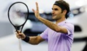 Roger Federer made a winning return to the ATP tour as he dispatched Diego Schwartzman 7-6(4) 6-4 in the second round of the Rolex Shanghai Masters