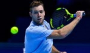 Jack SockŠ—Ès autumn bloom continued as he defeated Alexander Zverev 6-4 1-6 6-4 to reach the semi-finals of the ATP Finals in London