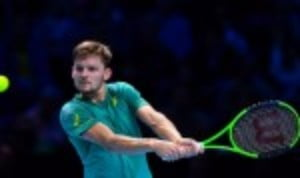David Goffin defeated Dominic Thiem 6-4 6-1 to complete the semi-final line up at the Nitto ATP Finals in London