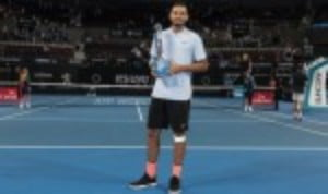 Nick Kyrgios made the ideal start to 2018 by dismissing Ryan Harrison 6-4 6-2 in the final of the Brisbane International