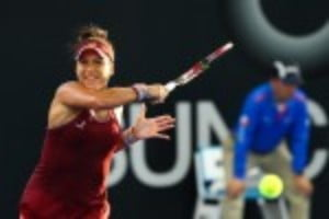 Heather WatsonŠ—Ès bid to win the Hobart International has been halted at the semi-final stage