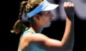 Elise Mertens is enjoying a debut to remember at the Australian Open