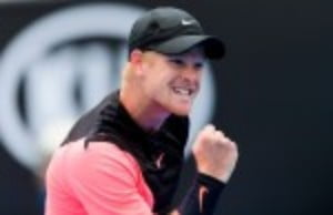 In his first ever match on Rod Laver Arena Kyle Edmund defeated third seed Grigor Dimitrov  6-4 3-6 6-3 6-4