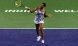 Venus Williams is into the quarter-finals of the BNP Paribas Open in Indian Wells for just the fourth time in her career